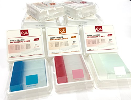 Standard Microscope slides- Charged (72 pcs per box) (pink)