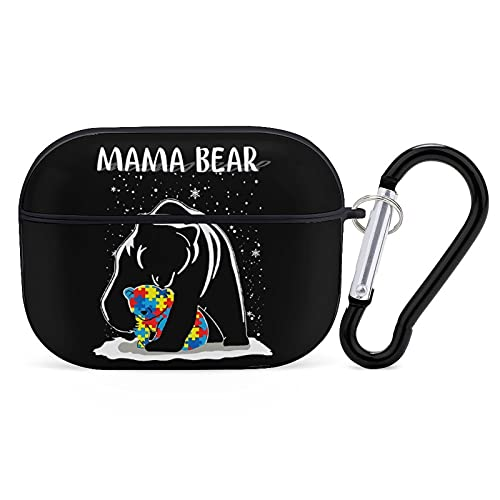 Apple AirPods Pro 3 Case Cover Autism Mama Bear Silicone Bluetooth Headset Accessories Protective Hard Shockproof with Keychain
