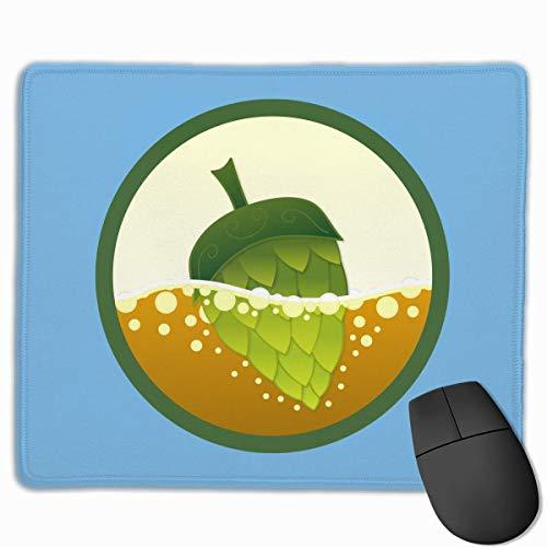 Glatte Mauspad Bier Hopfen Logo Mobile Gaming Mousepad Arbeit Mauspad Office Pad