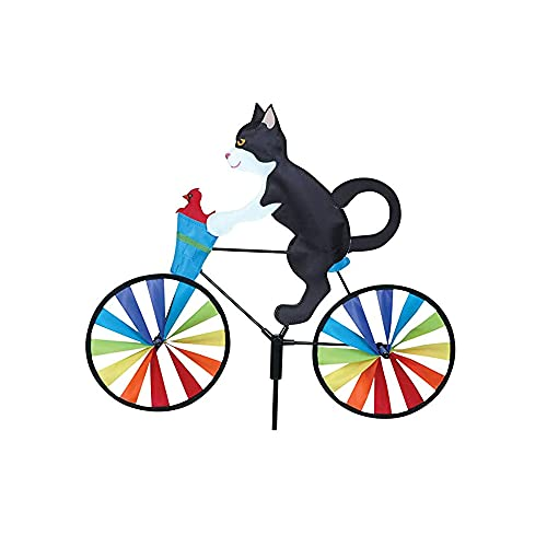 UKETO Creative Animal Bicycle Windmill,Garden Lawn Yard Decor Wind Spinner?Cute 3D Animal on Bike Windmill Wind Spinner,Cat Dog Bike Spinner Outdoor Toy for Kids Adults (C)