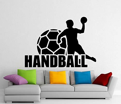 Geiqianjiumai Handball Vinyl Applique wandaufkleber Sport Home Indoor wandkunst Dekoration Gym wandtattoos Vinyl wandmalerei Wand Papier 40X28 cm