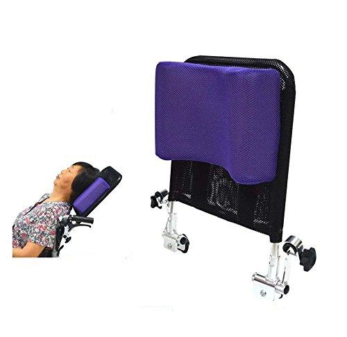 """Poggiatesta Per Sedia A Rotelle Supporto Per Collo Cuscino Per Schienale Confortevole Cuscino, Imbottitura Regolabile Per Adulti Accessori Universali Per Sedie A Rotelle Universali, 16\""""-20\"""",Purple"""