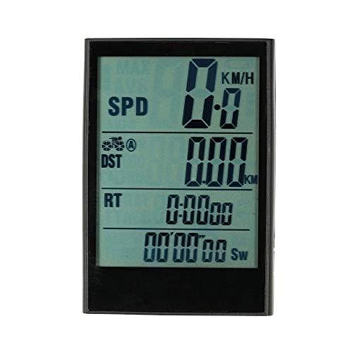 Odómetro de bicicleta Computadora de bicicleta Bicicleta Velocímetro Odómetro Temperatura Temperatura Resistente al agua para el ciclismo Montaje Multi Función Impermeable Bicicleta Adoxómetros (Color