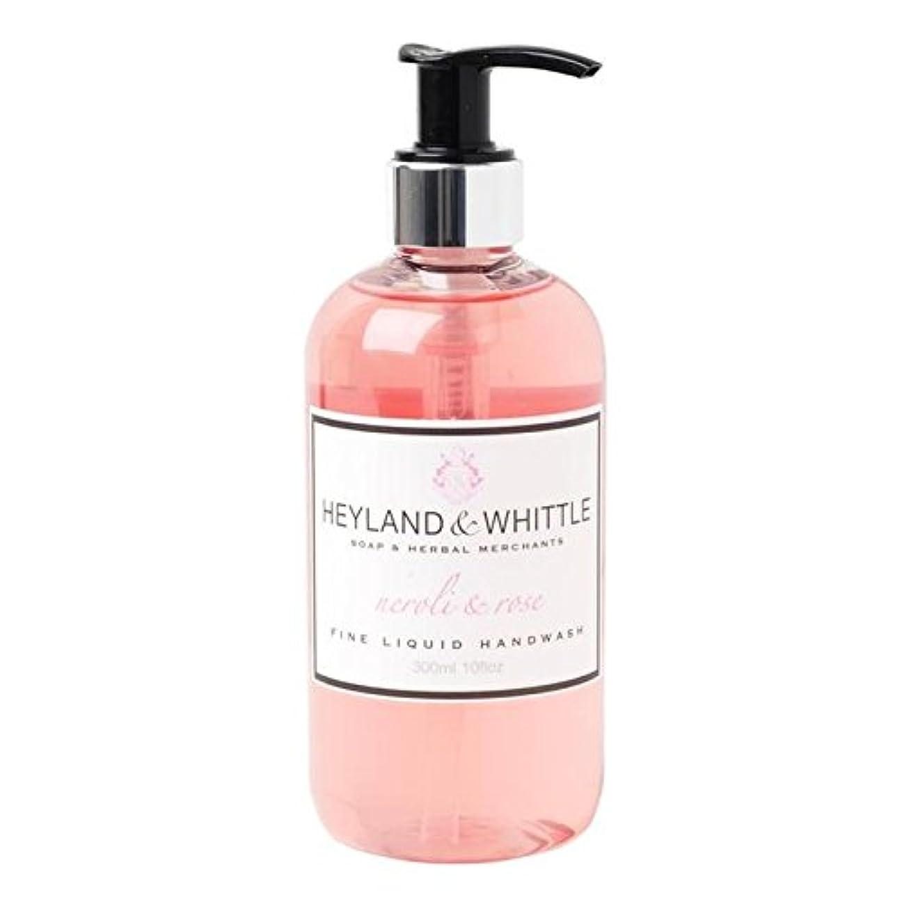 バトル尽きるアウトドア&削るネロリ&手洗いの300ミリリットルをバラ x4 - Heyland & Whittle Neroli & Rose Handwash 300ml (Pack of 4) [並行輸入品]