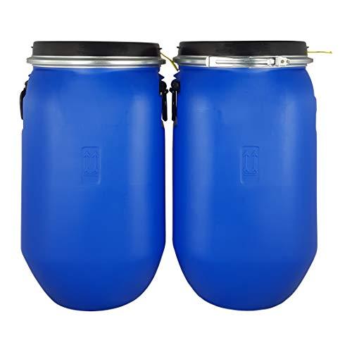 Bidón 30 Litros Cierre Ballesta Hermético de Plástico con Asas, para productos químicos y uso alimentario, estanco, Homologado ADR. (2 Unidades)