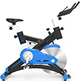 MARXIAO Indoor Cycling Bike Stationäre Übungs-Fahrrad Mit 44 Lbs Flywheel-Sensor Und LCD-Monitor Bequeme Sitzkissen,Blau