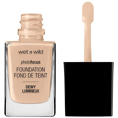 wet n wild Photo Focus Dewy Foundation, Shell Ivory, 1.06 Ounces