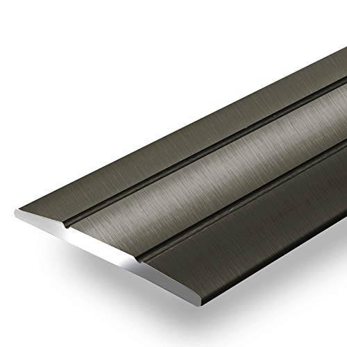 Alu Übergangsprofil Firm | C Form | selbstklebende Abdeckleiste für Fugen | Breite 36 mm | eloxiert Bronze | 90 cm