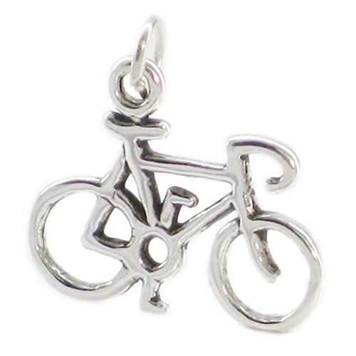 Fahrrad, 925 Sterlingsilber 1 x Rennrad Fahrrad Montageständer Fahrrad Anhänger SSLP3484