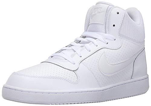 Nike Court Borough Mid, sportbasketbalschoenen, heren, grijs, wit (wit), 44 EU