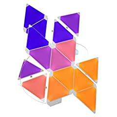 Create a stunning audiovisual lightshow in your home with the Nanoleaf Rhythm. Connect the triangular colour-changing LED panels together and mount them with the included adhesive pads. The Rhythm module recognizes music so the panels change colour i...