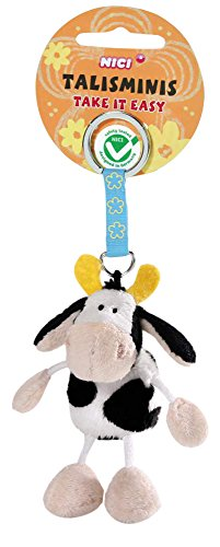 NICI 36681 - Schlüsselanhänger Kuh, 7 cm Talisminis