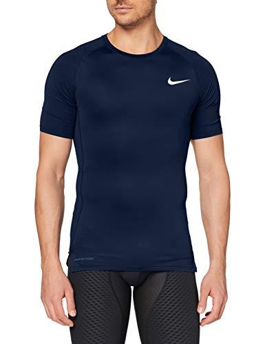 Nike M NP Top SS Tight, T-Shirt Uomo, Obsidian/(White), S