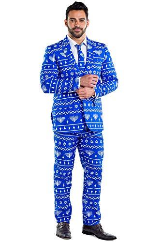Tipsy Elves The Lit Menorah Blazer with Tie: 46J