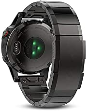 DFKai1run Smart klockarmband i rostfritt stål, 20mm 22mm 26mm rostfritt stålband för Garmin Fenix 5 5x 5s Classic Quick Install Metal Watch Bands Watch Straps Modesporter