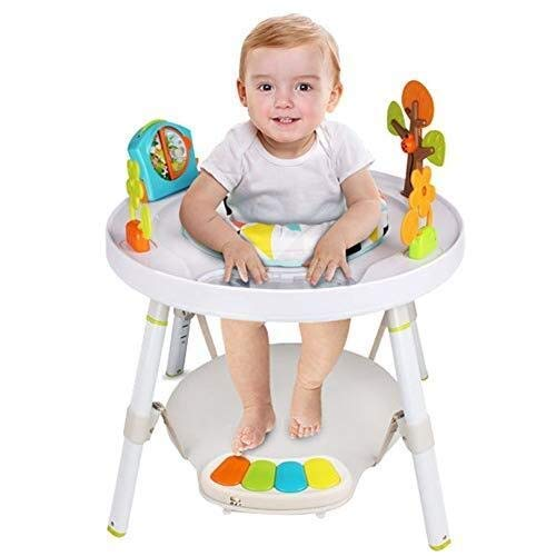 Portable Infant Eettafel, verstelbare stoel Multi-Function Roterende Seat Table Activity Center for uw baby (Kleur: wit) (Color : White)