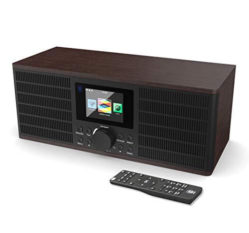 Peterhouse Graduate Digital Internet Wi-Fi Radio, Spotify Connect, Control Remoto, Bluetooth, UPnP, AUX-in, USB Input/Charging, Alarma Doble, Snooze (Nuez)