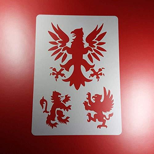 Schablone Adler Löwe Heraldik Wappen - BA67