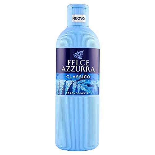 Felce Azzurra Duschbad Classico - reichhaltiges samtweiches Badeerlebnis mit dem klassischen Azzurra Duft - 1er Pack (1x 650 ml)