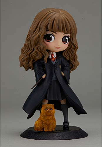 Harry Potter Q Posket Mini Figura Hermione Granger with Crookshanks 14 cm