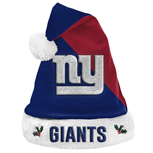 Forever Collectibles Foco NFL New York Giants 2020 Basic Santa Claus Hat Santa Hat Christmas