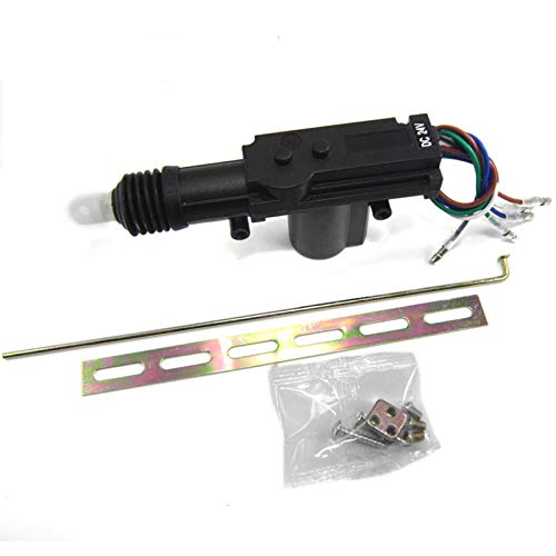 QREAEDZ Auto for LKW-Fahrzeug 24v 24Volt Power Slave Türverriegelungsaktuator Motor 5-Wire-Zentralverriegelung Alarmanlage 5P (Color : Black)