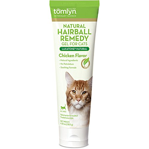 Tomlyn Laxatone Natural Hairball Remedy Gel for Cats - Chicken Flavor (2 Pack)