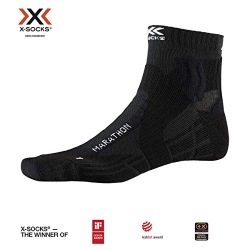 X-Socks Marathon Socks, Unisex Adulto, Opal Black, 35-38