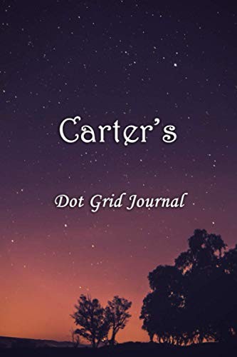 Carter's Dot Grid Journal: Carter Personalised Custom Name Bullet Point Dot Grid Notebook - Starry Night