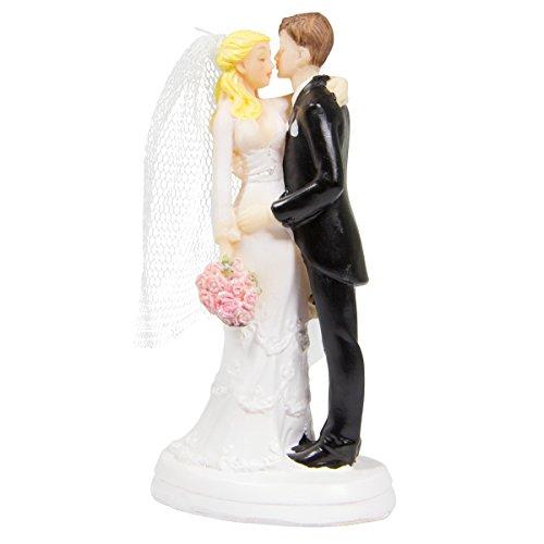 Folat 21285 Huwelijksfiguur Kussen Paar met Boeket, Multi Kleuren