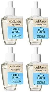 Bath and Body Works 4 Pack Beach Cabana Wallflowers Fragrance Refill. 0.8 fl oz.
