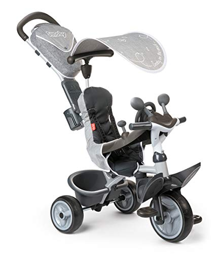 Smoby - Tricycle Baby Driver Confort Gris - Vélo Evolutif...