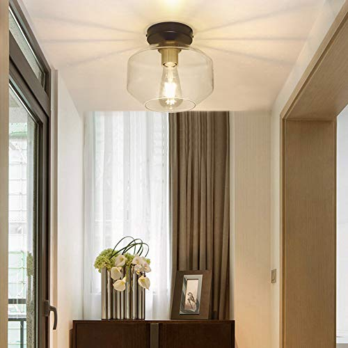 DLLT Farmhouse Semi Flush Mount ...