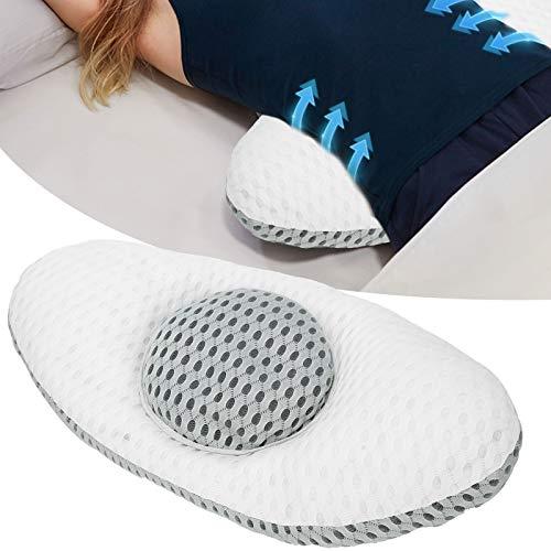 Yivibe Diseño Hueco para la Parte Inferior de la Espalda, cómoda Almohada para la Espalda, Almohada de Apoyo Lumbar, molestias en la Columna Lumbar para Ancianos para Mujeres Embarazadas,