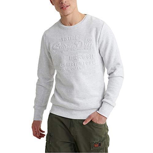 Superdry Shop Embossed Crew Herren Sweatshirt, Größe:L, Farbe:Grau