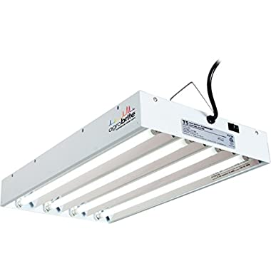 Hydrofarm Agrobrite FLT24 T5 Fluorescent Grow Light System, 2 Foot, 4 Tube