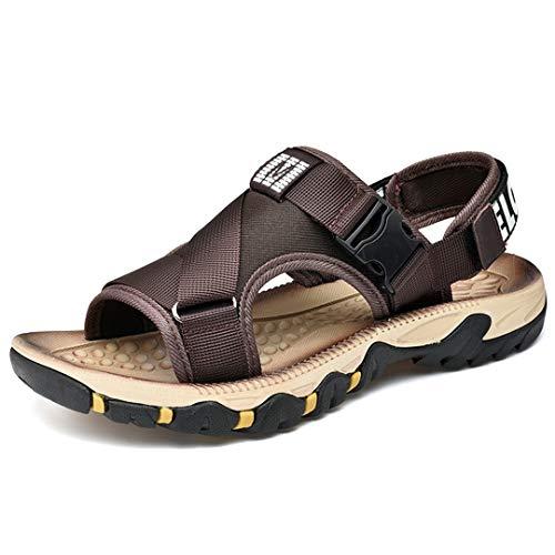 Sandalias para hombres Zapatos cómodos Sandalias suaves de gran tamaño Zapatos cómodos romanos Brown 8