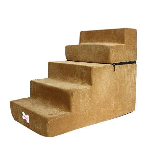 Hundetreppe in 3 Größen, Haustiertreppe, Katzentreppe, abnehmbare Schlafsofa Leiter für Hunde Katzen