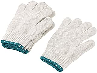 Nylon elástico dedo completo Trabajo Guantes de Trabajo Protector DE 3 Pares Blanca
