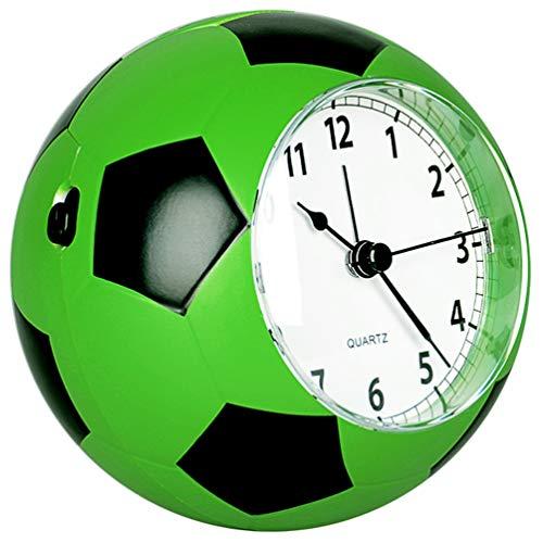 QMMCK Creatieve kinderwekker stille bedside cartoonfiguur mooi persoonlijkheid voetbal wekker groen