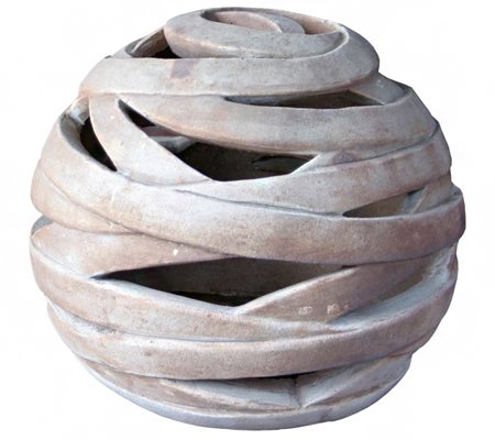 Dehner Deko-Objekt Kugel, ca. Ø 26 cm, Höhe ca. 23 cm, Terrakotta