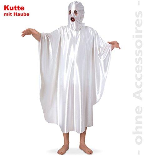 Kostüm Poltergeist, Kutte mit Haube, Gespenst für Erwachsene in Gr. L + XXL Halloween Karneval Fasching Mottoparty *NEU bei Pibivibi© (XX-Large)