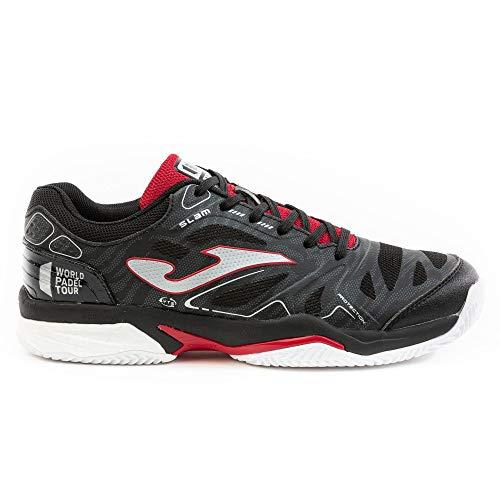 Joma T. Slam Men 2001 Black-Red - Zapatillas de Tenis para Hombre Clay Negro Size: 42 EU