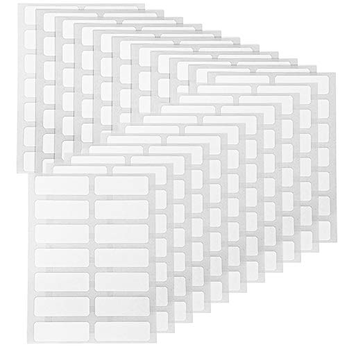 FYSL 840 Pezzi 13 x 38 mm Cartella di File Etichette di Nome Etichette Adesive Limatura Etichette per Bottiglie Tazza Bianco Rettangolo Etichette Adesive Prezzo