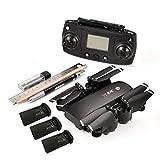 S30 5G RC Drone avec mini-drone pliable pour caméra 1080P Drone GPS FPV Wifi 4 axes sur 6 axes Smart Suivez-moi avec la batterie 3 * (couleur: noir)