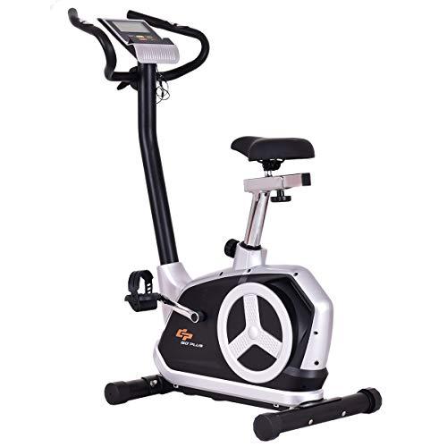 Goplus Upright Exercise Bike Flywheel Bike Bicycle Magnetic Resistance Cardio Fitness Equipment with Phone Holder