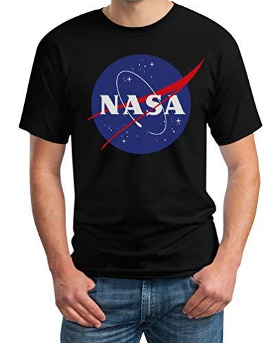 NASA Logo Space Raumfahrt Männer Outfit Herren T-Shirt L Schwarz