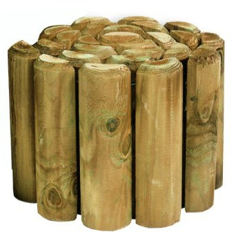 VALUE PACK OF 4 - 6' Log Rolls **SAVE ON POSTAGE** Lawn Border Edging (1.8m Long)