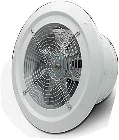 LXJ-KLD del Panel Redonda Extractor de Aire del Ventilador de Pared Potente Ventilador de Escape Tipo de Pared de Alta Velocidad 2800 de Velocidad de 200 mm Adecuado para Cocina y baño