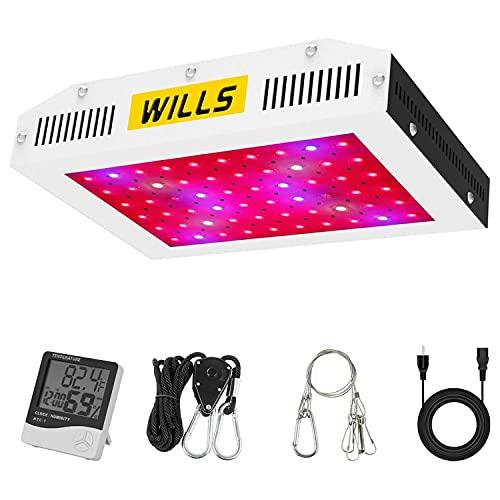 WILLS 600W LED Grow Light, Full Spectrum Double Switch Plant...